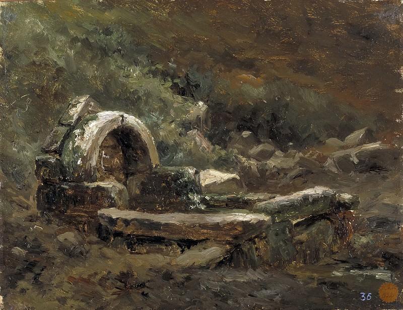 Haes, Carlos de -- La fuente de Rustephan. Part 4 Prado Museum