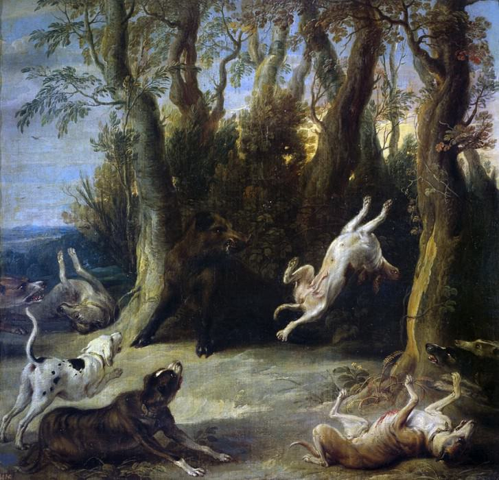 Снейдерс, Франс -- Загнанный кабан. Часть 4 Музей Прадо