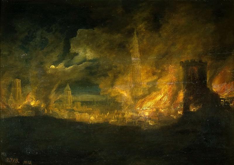 Хейл, Даниэль ван -- Пожар в городе. Часть 4 Музей Прадо