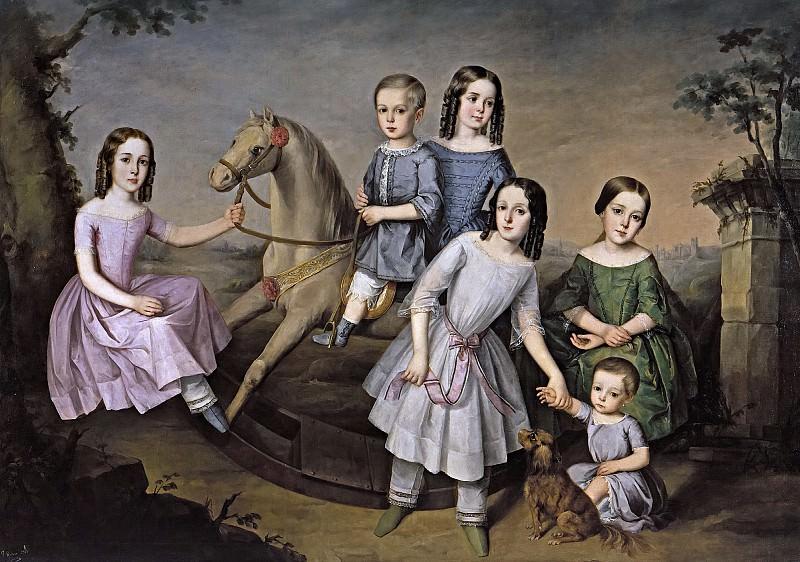Roldán y Martínez, José -- Retrato de la familia Lara. Part 4 Prado Museum