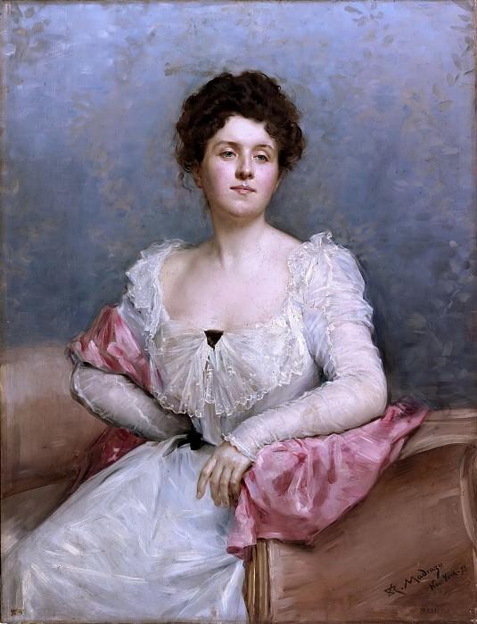 Madrazo y Garreta, Raimundo de -- Retrato de señora. Part 4 Prado Museum
