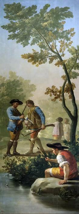 Goya y Lucientes, Francisco de -- El pescador de caña. Part 4 Prado Museum