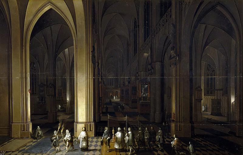 Francken, Frans II; Neefs, Pieter I -- El viático en el interior de una iglesia. Part 4 Prado Museum