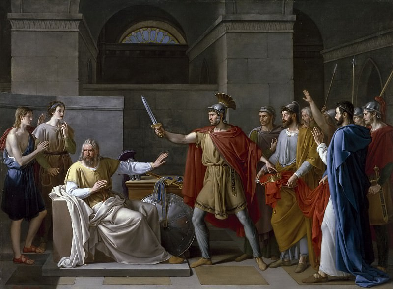 Ribera y Fernández, Juan Antonio -- Wamba renunciando a la corona. Part 4 Prado Museum