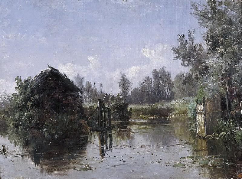 Haes, Carlos de -- Canal abandonado en Vriesland (Holanda). Part 4 Prado Museum