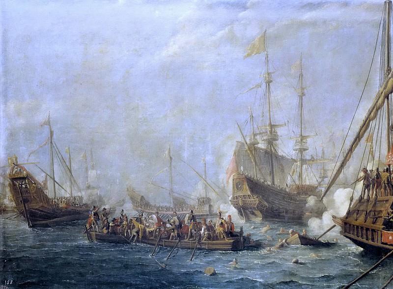 Эйк, Каспар ван -- Морской бой между турками и мальтийскими рыцарями. Часть 4 Музей Прадо