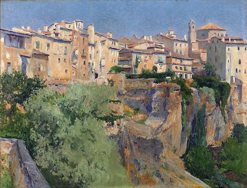 Beruete y Moret, Aureliano de -- Vista de Cuenca. Part 4 Prado Museum
