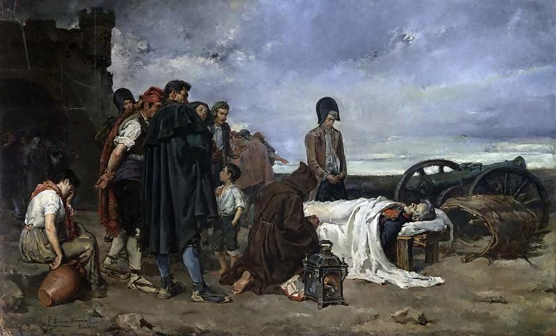 Muñoz Lucena, Tomás -- El cadáver del general Álvarez de Castro. Part 4 Prado Museum