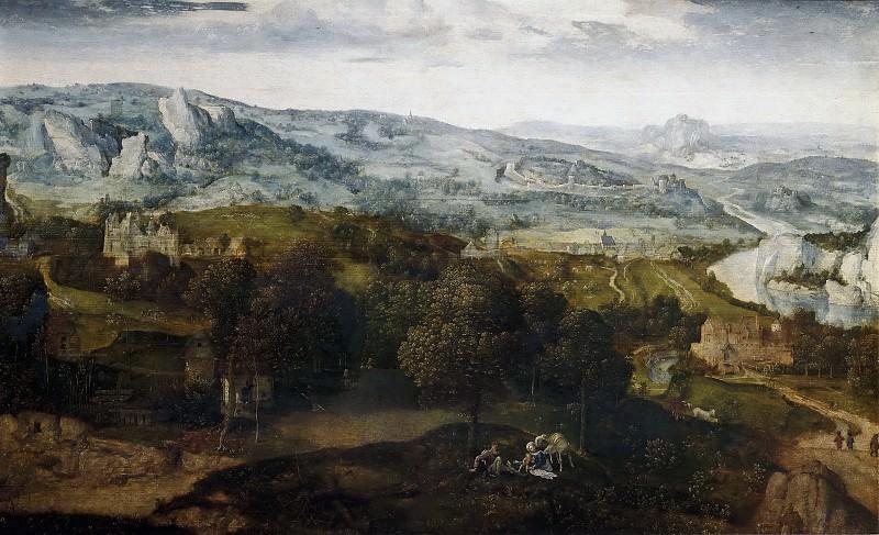 Massys, Cornelys -- Descanso en la Huida a Egipto. Part 4 Prado Museum