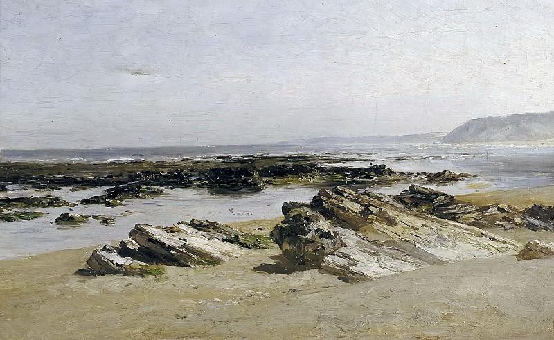 Haes, Carlos de -- Bajamar (Guethary). Part 4 Prado Museum
