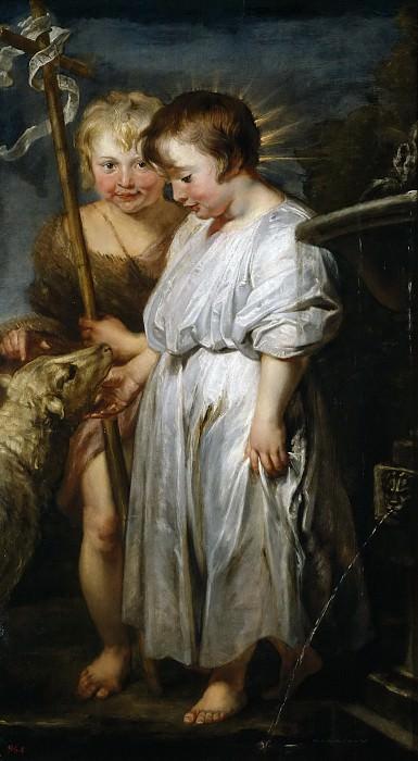 Dyck, Anton van; Rubens, Pedro Pablo -- Jesús con San Juanito y el Cordero. Part 4 Prado Museum