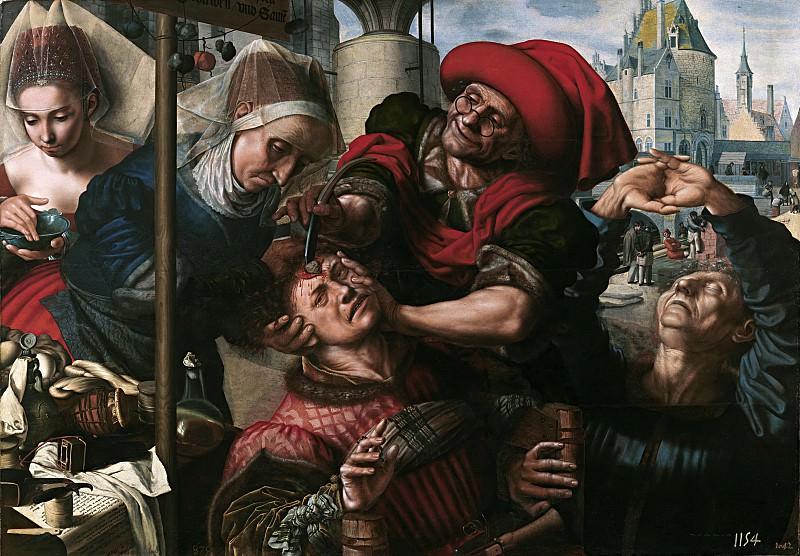 Hemessen, Jan Sanders van -- El cirujano. Part 4 Prado Museum