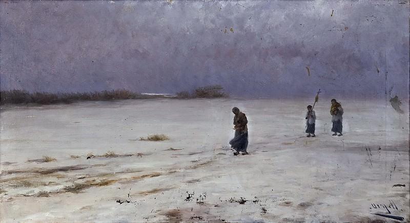 Urgell e Inglada, Modesto -- La vuelta del entierro. Part 4 Prado Museum