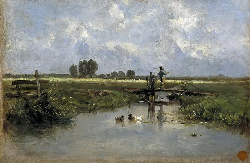 Haes, Carlos de -- Cercanías de Vriesland. Part 4 Prado Museum