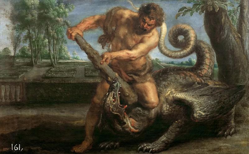 Rubens, Pedro Pablo (y taller) -- Hércules matando al dragón del jardín de las Hespérides. Part 4 Prado Museum