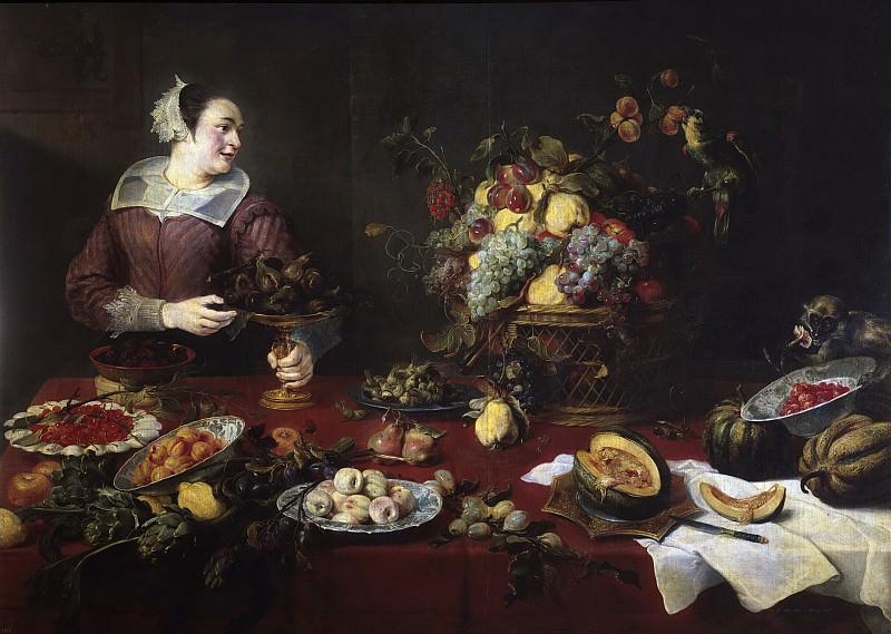 Снейдерс, Франс -- Натюрморт с фруктами и служанка. Часть 4 Музей Прадо
