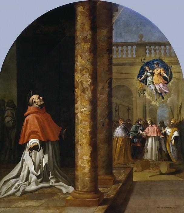 Carducho, Vicente -- Reconocimiento del cartujo y cardenal San Nicolás Albergati. Part 4 Prado Museum