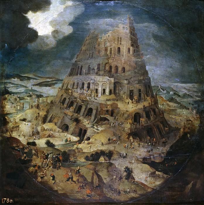 Brueghel el Joven, Pieter -- Construcción de la Torre de Babel. Part 4 Prado Museum