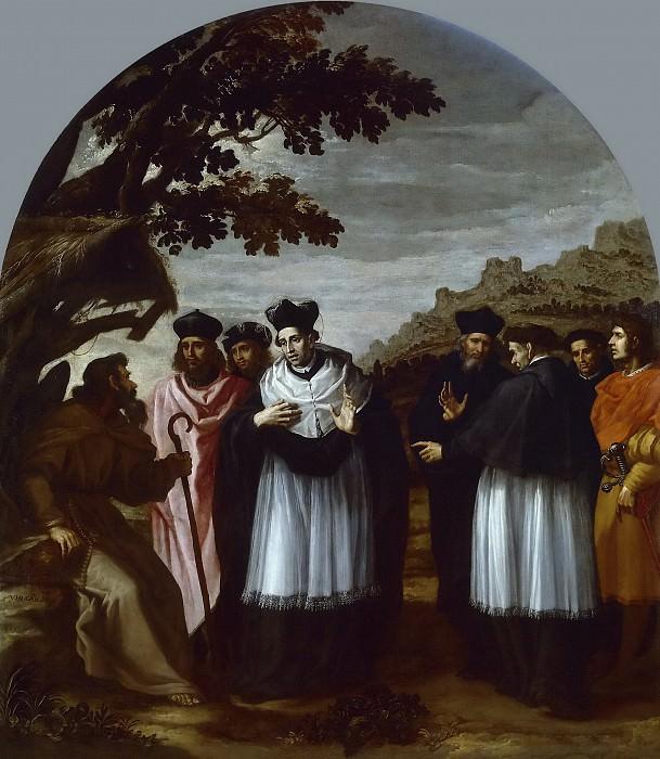 Carducho, Vicente -- San Bruno y sus seis compañeros visitan a un ermitaño. Part 4 Prado Museum