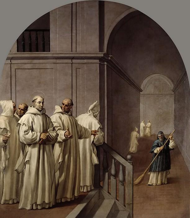 Carducho, Vicente -- Humildad de San Hugo y de San Guillermo, abad de San Teodofredo. Part 4 Prado Museum