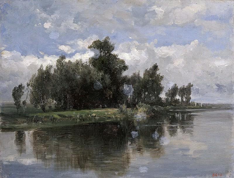 Haes, Carlos de -- Un canal (Holanda). Part 4 Prado Museum