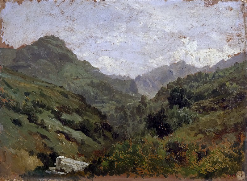Haes, Carlos de -- Cañada en el puerto de Pajares. Part 4 Prado Museum