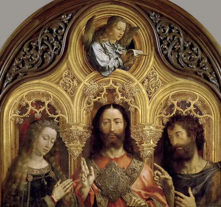 Gossaert, Jan -- Cristo entre la Virgen María y San Juan Bautista. Part 4 Prado Museum
