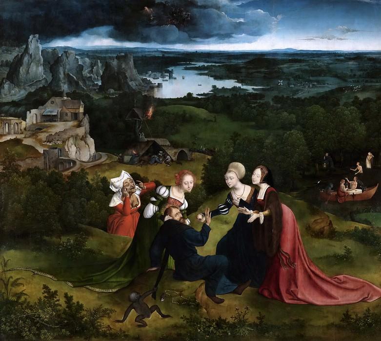 Massys, Quentin; Patinir, Joachim -- Las tentaciones de San Antonio Abad. Part 4 Prado Museum