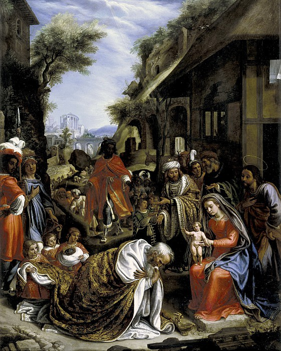 Lignis, Pietro de -- La Adoración de los Reyes Magos. Part 4 Prado Museum