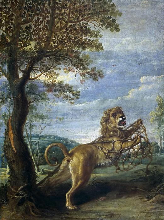 Snyders, Frans -- Fábula del león y el ratón. Part 4 Prado Museum