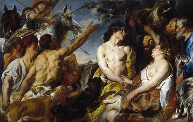 Jordaens, Jacob -- Meleagro y Atalanta. Part 4 Prado Museum