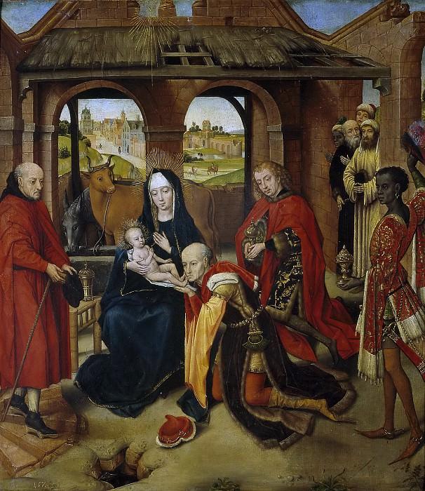 Memling, Hans (Copia de Weyden, Roger van der) -- La Adoración de los Reyes Magos. Part 4 Prado Museum