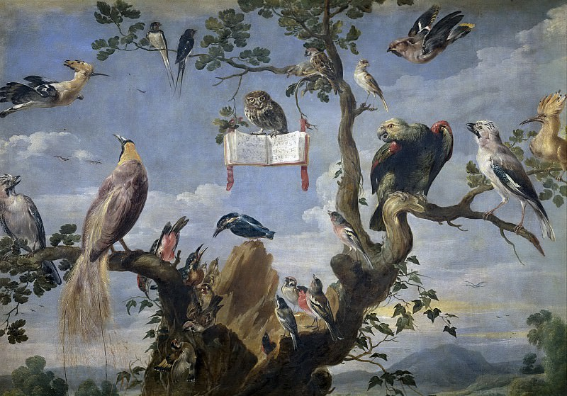 Snyders, Frans -- Concierto de aves. Part 4 Prado Museum