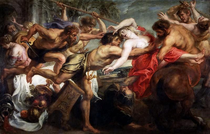 Rubens, Pedro Pablo (y taller) -- El rapto de Hipodamía. Part 4 Prado Museum