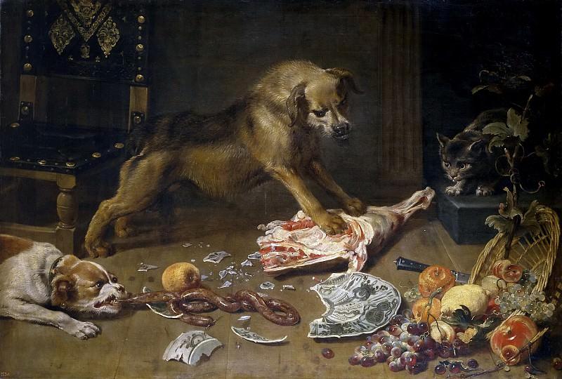 Snyders, Frans -- Una despensa. Part 4 Prado Museum