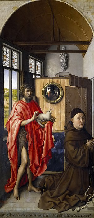Кампен, Робер -- Иоанн Креститель и францисканец Генрих Верль. Часть 4 Музей Прадо