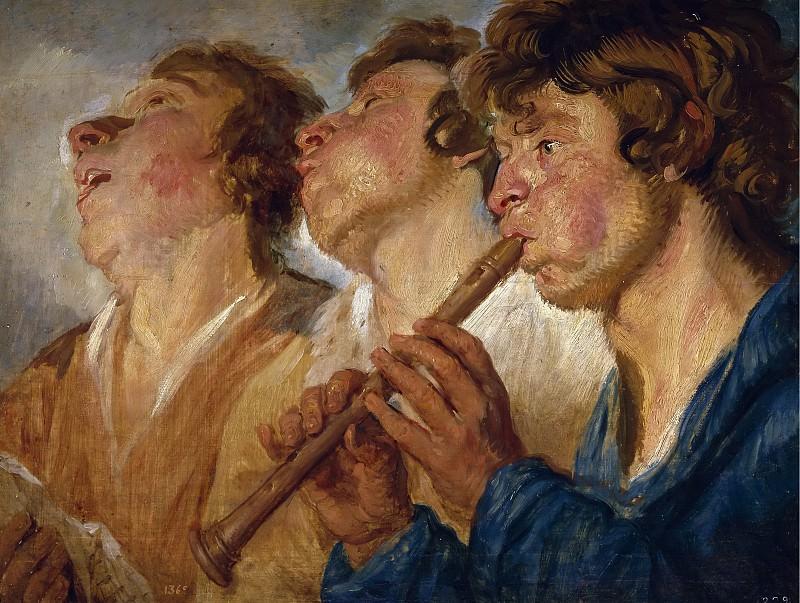 Jordaens, Jacob -- Tres músicos ambulantes. Part 4 Prado Museum