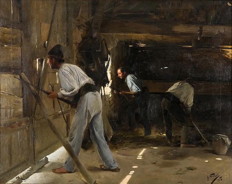 Fillol Granell, Antonio -- La defensa de la choza. Part 4 Prado Museum