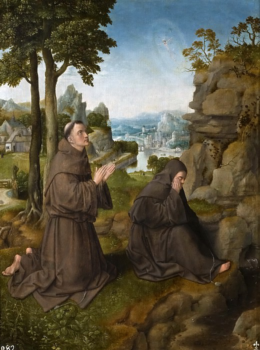 Maestro de Hoogstraten -- San Francisco de Asís recibiendo los estigmas. Part 4 Prado Museum