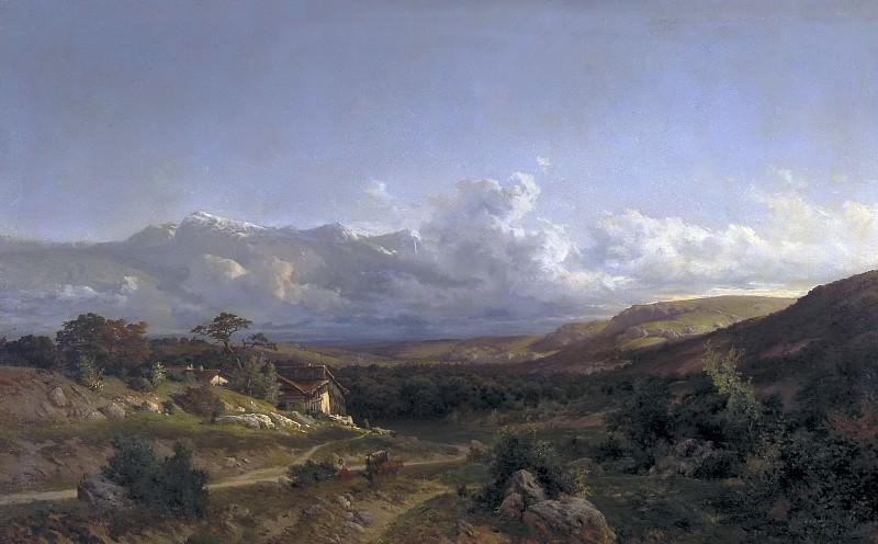 Haes, Carlos de -- Paisaje del Delfinado. Part 4 Prado Museum