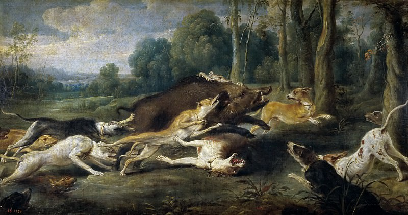 Снейдерс, Франс -- Травля кабана. Часть 4 Музей Прадо