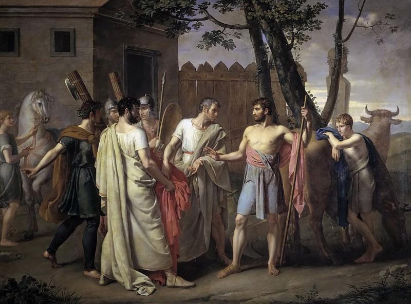 Ribera y Fernández, Juan Antonio -- Cincinato abandona el arado para dictar leyes a Roma. Part 4 Prado Museum