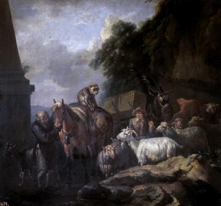 Bloemen, Peeter van -- Caravana. Part 4 Prado Museum