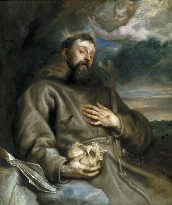 Dyck, Anton van -- San Francisco de Asís en éxtasis. Part 4 Prado Museum