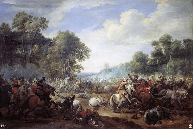 Meulener, Pieter -- Combate de caballería. Part 4 Prado Museum