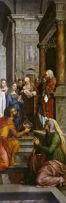 Coxie, Michiel I -- La Presentación de la Virgen en el Templo. La Visitación. La Adoración de los Reyes Magos. Part 4 Prado Museum