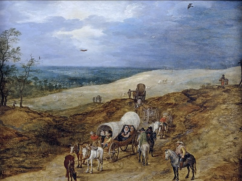 Paisaje con galeras. Jan Brueghel The Elder