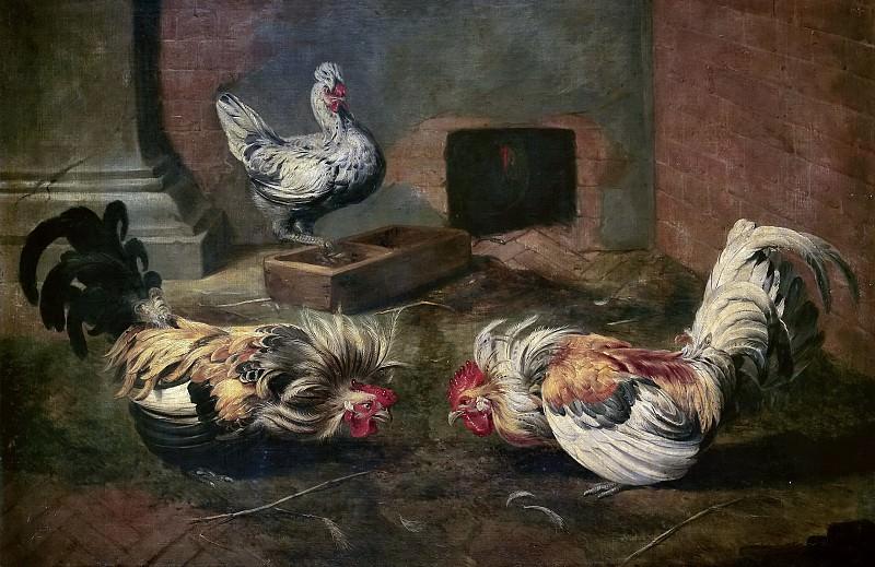 Snyders, Frans -- El gallinero. Part 4 Prado Museum