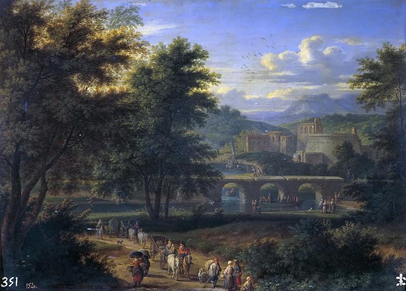 Баудевейнс, Адриан Франс -- Пейзаж с дорогой к реке. Часть 4 Музей Прадо