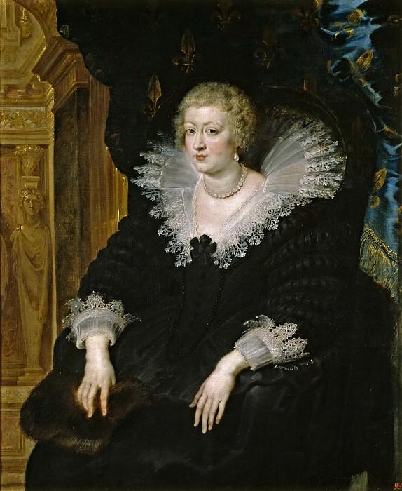 Rubens, Pedro Pablo -- Ana de Austria, reina de Francia. Part 4 Prado Museum